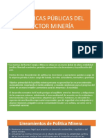 Políticas Públicas Del Sector Minería