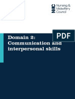 Domain 2 Communication and Interpersonal Skills