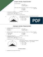 Soal Matematika SMA -Ulangan Harian Trigonometri