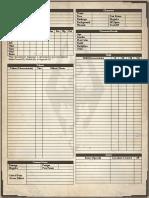 UESRPG - Character Sheet