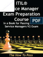 Before Exam Itil Service Manager