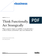 Think Functionally Act Strategically