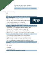 Examen de Evaluación API 510