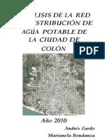 ANÁLISIS DE LA  RED DE DISTRIBUCIÓN DE AGUA  POTABLE DE LA  CIUDAD DE COLÓN año 2010