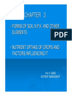CHAPTER 3 Forms of Soil Nutrients and Plant Uptake