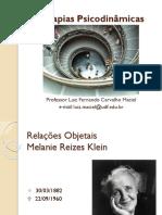 Teorias Psicodinamicas - Relações Objetais - Klein