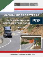 Manual de Carreteras - Especificaciones Tecnicas Generales Para Construcción - EG-2013 - (Versión Revisada - JULIO 2013)
