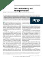Tilman Et Al. (2017) Future Threats to Biodiversity and Pathways to Their Prevention