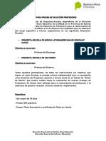 Convocatoria Prueba de Seleccion Docente- GUITARRA Y CHARANGO