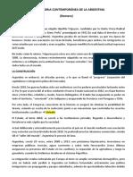 Resumen Breve Historia Contemporánea de La Argentina (1)