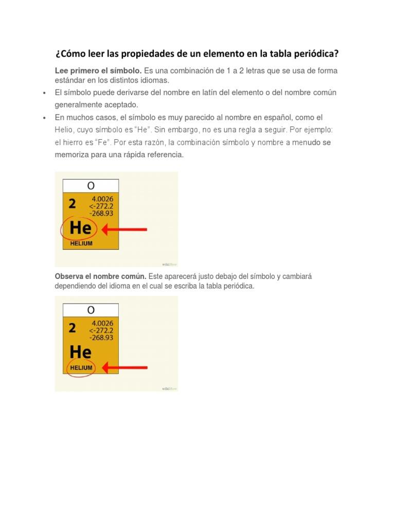 Cmo leer las propiedades de un elemento en la tabla peridica urtaz Gallery