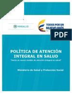 Politica de Atencion Integral en Salud 2016