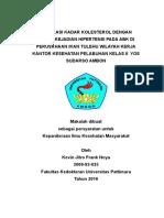 Angka Kejadian Hipertensi Pada Abk Di Perusahaan Ikan Tulehu Wilayah Kerja Kantor Kesehatan Pelabuhan Kelas II Yos Sudarso Ambon