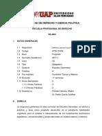 Silabo de Derecho Laboral Social Previsional y Colectivo