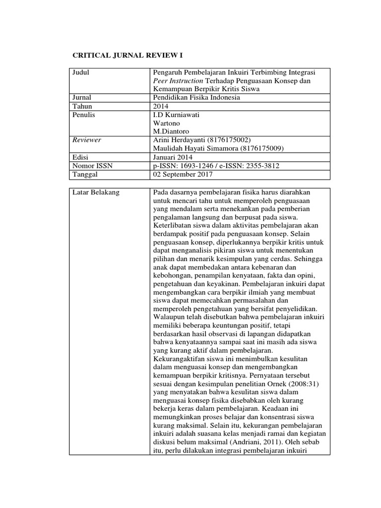 Critical Jurnal Review Metodologi