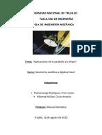 Parábola y elipse - aplicaciones