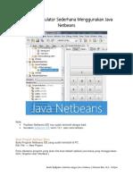MODUL Program Kalkulator Sederhana Menggunakan Java Netbeans