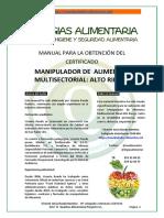 Manual Manipulador de Alimentos 2017