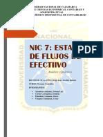Nic 7- Flujos de Efectivo
