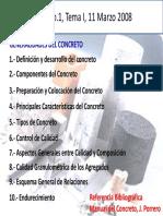 Tema 1 Generalidades Del Concreto