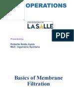 Membrane Filtration Basics