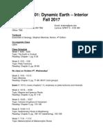 Geology 201 (G 201) Portland State University  Fall 2017 with Erik Shafer Syllabus
