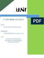 informe de etica N°7