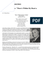 History of Hymns - 'There's Within My Heart a Melody'