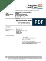 Papakura Local Board Agenda September 2017