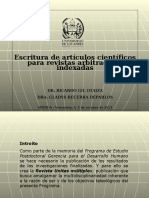 Escritura de Artículos Científicos Para Rev Istas Arbitradas e Indexadas GRUPO