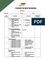 CNC Running Checklist