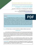IAETSD-JARAS A Study on Uv Protection Activity of Selected Herbs on Bamboocotton Woven Fabric