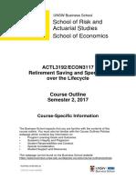 ECON3117 ACTL3192 Course Outline Part A