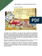 Las Epidemias de Viruela y Tifo en El Siglo Xviii