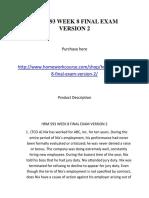 Hrm 593 Week 8 Final Exam Version 2
