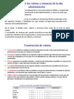1.4 Valores - Politicas - Cultura Organizacional