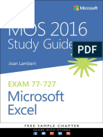 eBook MOS 2016 Excel