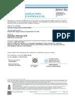 DM100 VDR Type Approval Certificate DNV GL Wheelmark Rev5