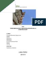 Prefabricacion e Industrializacion