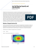 Modulus of Subgrade Reaction
