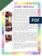 Welcoming Meesha
