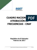 Cuadro Nacional de Atribucion de Frecuencias - CNAF 2017