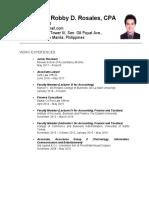 Resume RDR1