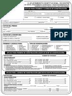 Formato Para Permisos y Licencia