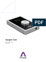 Apogee Duet Users Guide v 2