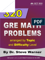 320 GRE Math Problems