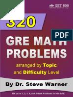 320 GRE Math Problems