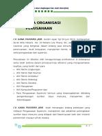 A. Data Organisasi Perusahaan