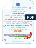 Invitation IESL Family Gettogether 2016-2