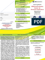 Workshop on MEMS Based Wireless Sensors Brochure
